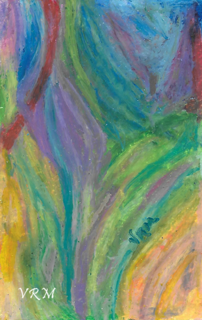 Wise Indeed, oil pastel on paper, 5.5x8 inches, available