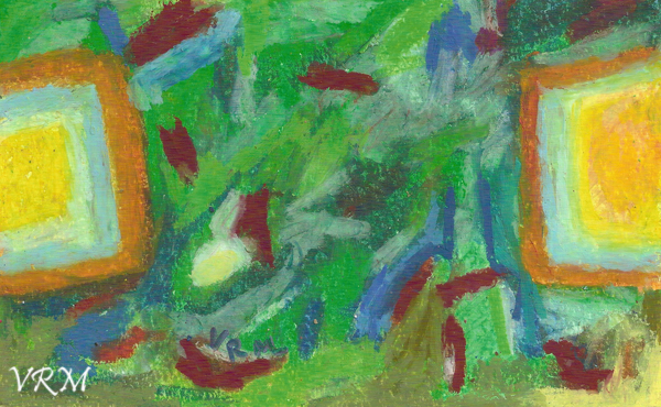 Goal!, oil pastel on paper, 5.5x8 inches, available